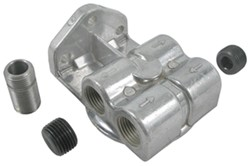 "Derale Remote Oil Filter Mount with 1/2"" NPT Side Ports"