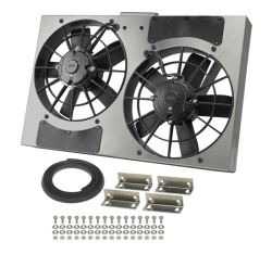 "Derale 24"" Dual, High-Output Electric Radiator Fan w/ Aluminum Shroud - PWM - 3,750 CFM"