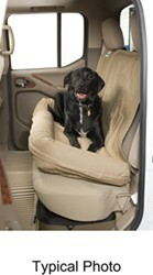 Canine Covers Dog Bed with Built-In Seatback Cover for Second-Row Bench - Misty Gray