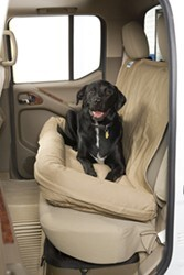 Canine Covers Dog Bed with Built-In Seatback Cover for Second-Row Bench - Taupe