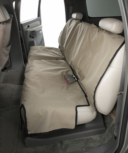 Canine Covers Econo Seat Protector For Rear Bench Seats With Headrests Small High Back Taupe
