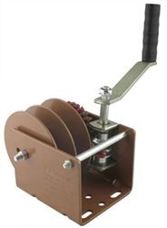 Dutton-Lainson Worm Gear Hand Winch with Split Reel for 2 Cables - 1,500 lbs.