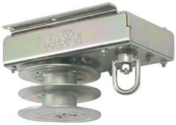 Dutton-Lainson Ceiling Mounted Brake Winch - Split Reel for 2 Cables - 4,000 lbs.