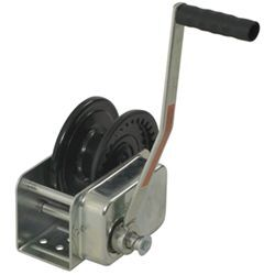"Dutton-Lainson Heavy Duty Brake Winch, TUFFPLATE Finish, Self-Locking, 2-1/2"" Drum - 1,500 lbs"