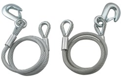"40"" Vinyl Coated Safety Cables with Clevis Hook (Qty. 2) by Dutton-Lainson, 6,500 lbs."