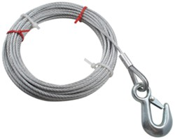 "Hand Winch Cable with Safety Hook 3/16"" Diameter x 50' Long - 1,800 lbs."