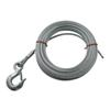 "Hand Winch Cable with Safety Hook 3/16"" Diameter x 20' Long - 1,800 lbs."