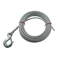 "Hand Winch Cable with Safety Hook 5/16"" Diameter x 25' Long - 2,500 lbs."