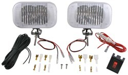 Heavy-Duty LED Docking Lights - 2 Diode, 12/24 Volts - Wiring and Switch - Black Housing (Qty 2)