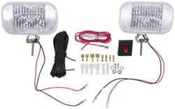 Heavy-Duty LED Docking Lights - 2 Diode, 12/24 Volts - Wiring and Switch - White Housing (Qty 2)