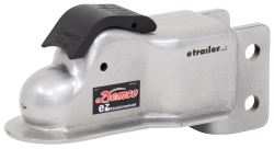 "Demco Trailer Coupler - Adjustable Channel Mount - eZ-Latch - Silver - 2"" Ball - 10,000 lbs"