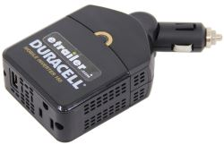 Duracell Gooseneck Mobile Power Inverter - AC, USB Outlets - 150 Watts