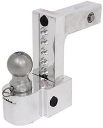 "Self-Locking, Adjustable 3-Ball Mount w Stainless Balls - 2"" Hitch - 6"" Drop, 7"" Rise"