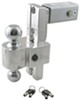 "Self-Locking, Adjustable 2-Ball Mount w Chrome Balls - 2.5"" Hitch - 8"" Drop, 9"" Rise"