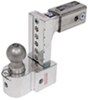"Solid-Tow Adjustable 3-Ball Mount w Stainless Balls - 2-1/2"" Hitch - 6"" Drop, 7"" Rise"