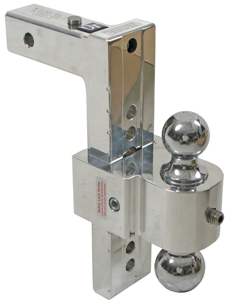 Solid Tow Adjustable 2 Ball Mount W Stainless Balls 2