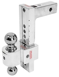 "Solid-Tow Adjustable, Aluminum Ball Mount - 2 Chrome Balls - 10"" Drop, 11"" Rise - 10K"