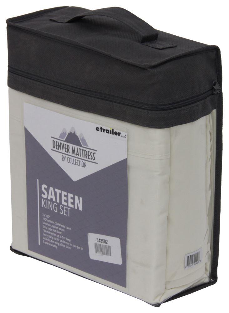 Denver Mattress RV Sheet Set Sateen King Ivory