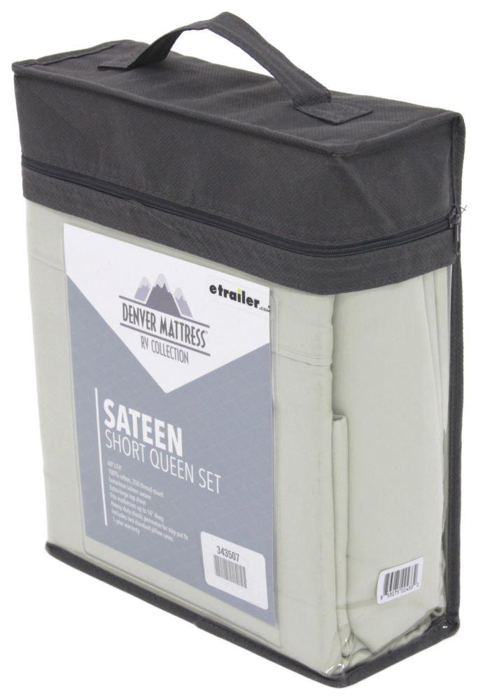 Denver Mattress RV Sheet Set Sateen Short Queen Sage
