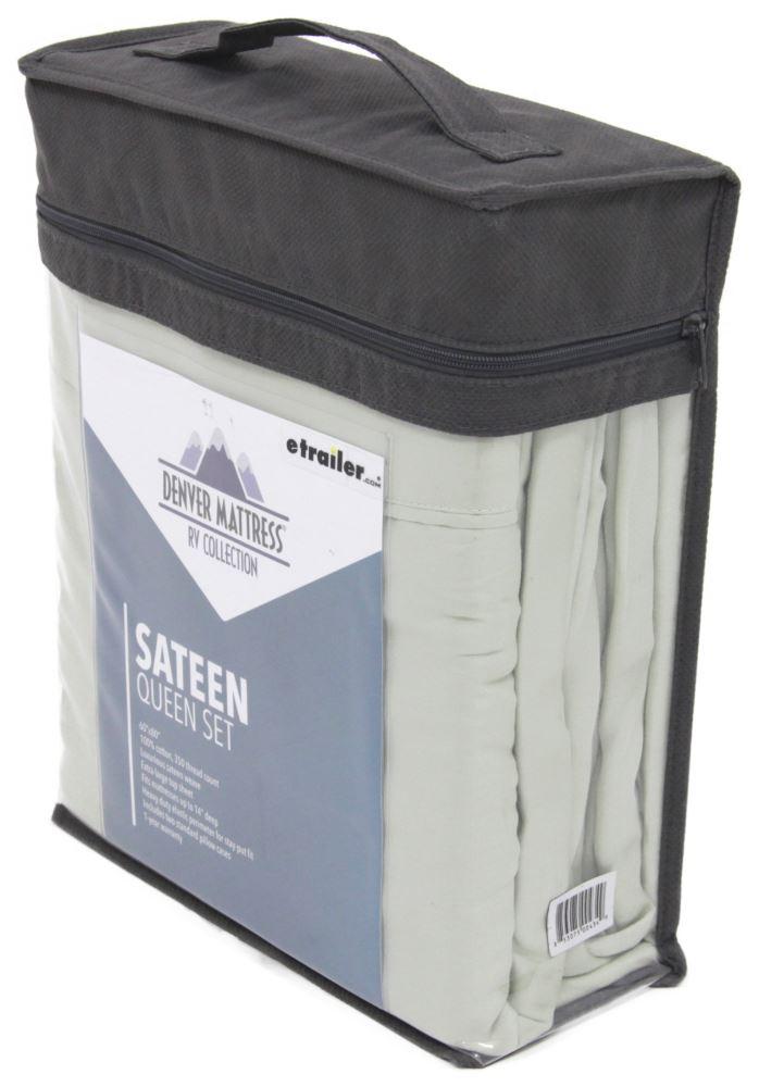 Denver Mattress RV Sheet Set Sateen Queen Sage