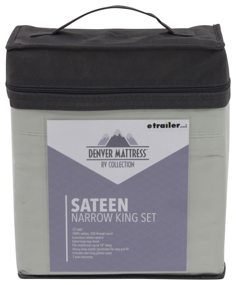 Denver Mattress RV Sheet Set Sateen Narrow King Sage