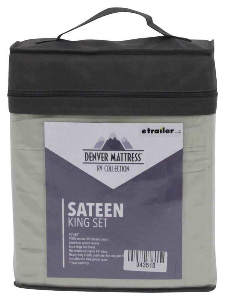 Denver Mattress RV Sheet Set Sateen King Sage Denver