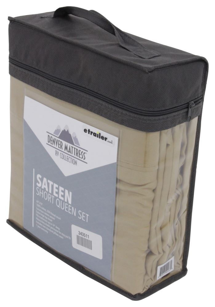 Denver Mattress RV Sheet Set Sateen Short Queen