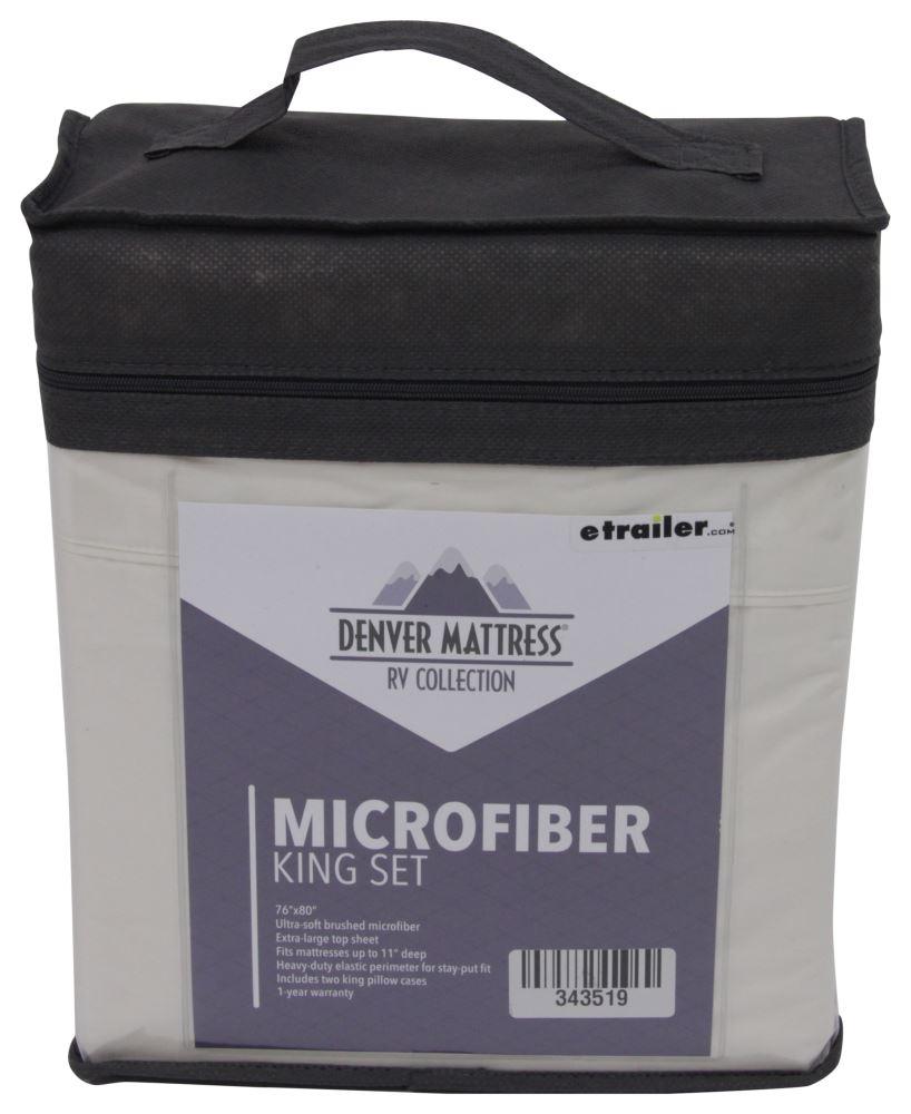 Denver Mattress RV Sheet Set Microfiber King Ivory