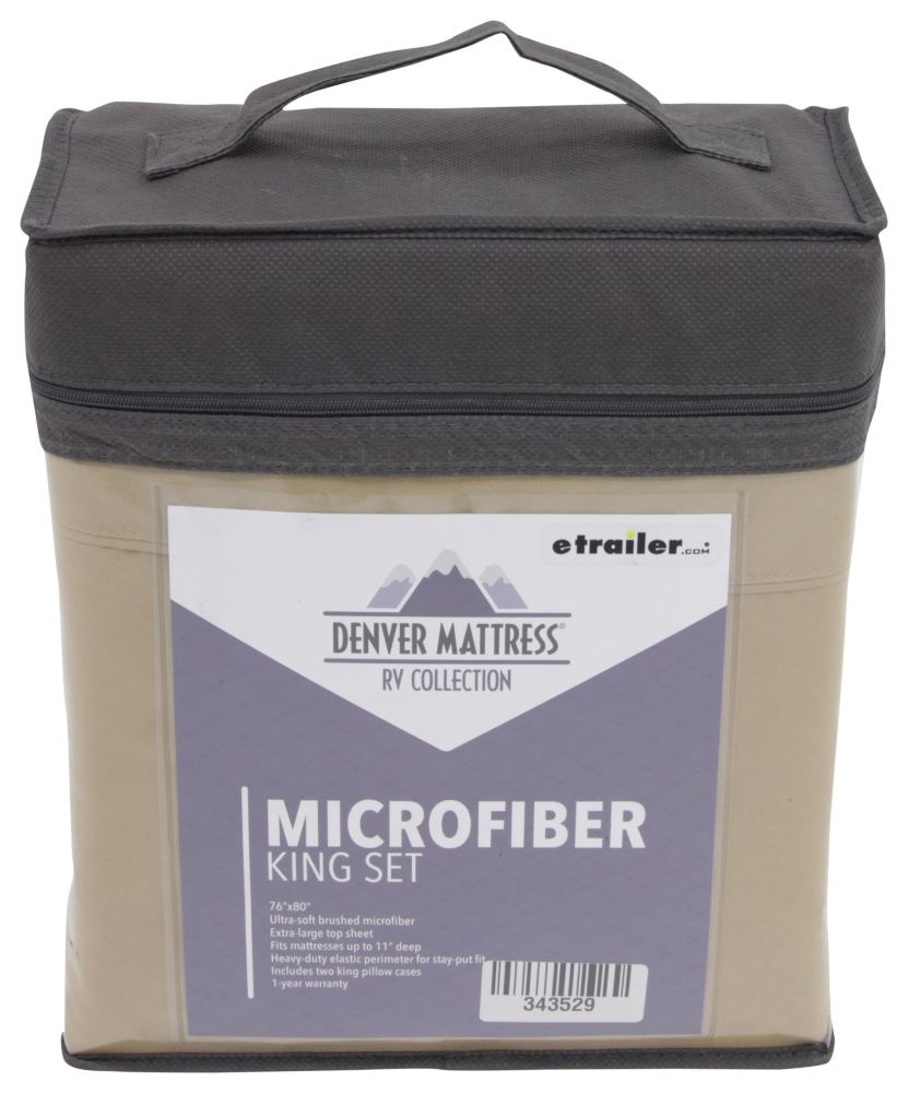 Denver Mattress RV Sheet Set Microfiber King Latte