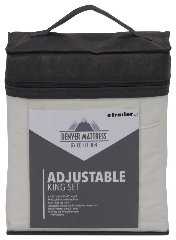 Denver Mattress RV Sheet Set Adjustable King Ivory