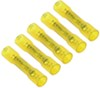 Deka Heat Shrink Butt Connector - 12-10 Gauge - Nylon Insulation - Yellow - Qty 5