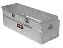 DeeZee Red Label Truck Bed Toolbox - Utility Chest Style - Aluminum - 8 Cu Ft - Silver