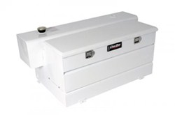DeeZee Specialty Series Transfer Tank/Toolbox Combo - Steel - 50 Gallon - 4.1 Cu Ft - White