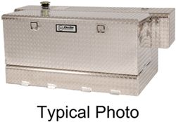 DeeZee Specialty Series Transfer Tank/Toolbox Combo - Aluminum - 90 Gallon - 8.7 Cu Ft - Silver