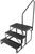 stromberg carlson rv and camper steps 2 27 inch wide econo porch trailer step with handrail landing - double 7 drop/rise 20-1/2 tall
