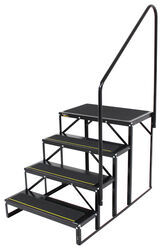 "Econo Porch Trailer Step with Handrail and Landing - Triple - 7"" Drop/Rise, 27-1/2"" Tall"