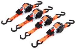 "Erickson Re-Tractable Ratchet Straps w/ Push-Button Releases - 1"" x 6' - 500 lbs - Qty 4"