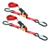 "Erickson Ratcheting Motorcycle Tie-Down Straps w Long Safety Hooks - 1""x6' - 400 lb - Qty 2"