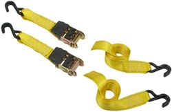 "Erickson Easy Ratchet Tie-Down Straps w/ Release Levers - 2"" x 10' - 1,333 lbs - Qty 2"
