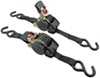 "Erickson Re-Tractable Ratchet Straps w/ Push Button Releases - 1"" x 10' - 400 lbs - Qty 2"