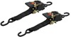 "Erickson Re-Tractable Ratchet Straps w/ Push Button Releases - 2"" x 10' - 1,100 lbs - Qty 2"