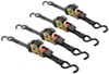 "Erickson Re-Tractable Ratchet Straps w/ Push Button Releases - 1"" x 6' - 500 lbs - Qty 4"