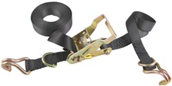 "Erickson Ratchet Tie-Down Strap w/ Double J-Hooks and Floating Rings - 1"" x 15' - 1,000 lbs"