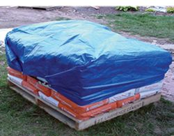 Erickson All-Purpose Blue Tarp, 8 x 8 Weave - 5' x 7'