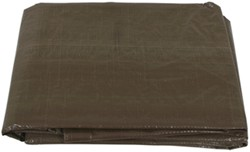 Erickson Brown/Green Reversible Tarp, 10 x 10 Weave - 10' x 12'