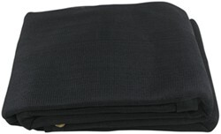Erickson Mesh Tarp and Truck Bed Cover - Heavy Duty - Black - 6' x 8'