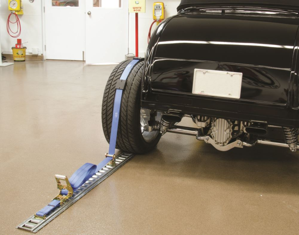Erickson E Track Wheel Tie Down Strap With Roller Idler