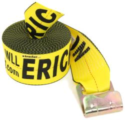 "Erickson Tie-Down Strap for Truck and Trailer Winch - Flat Hook - 4"" x 40' - 5,400 lbs"