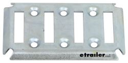 4-Slot Horizontal E-Track - Zinc Plated Steel - Qty 1