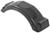 fulton trailer fenders top step plastic single axle fender w - style b black 8 inch to 12 wheels qty 1